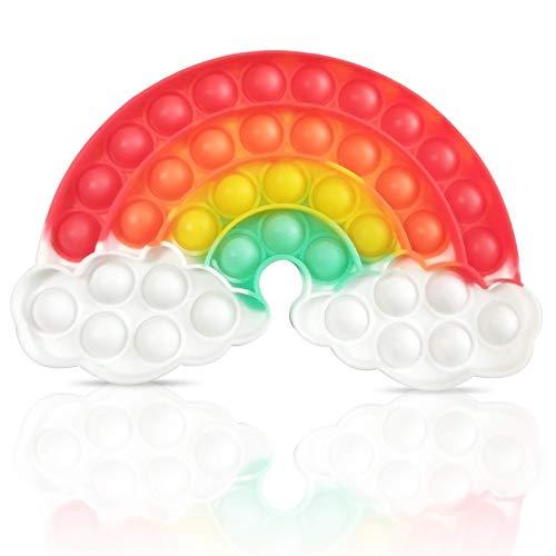 Juguete Fidget Bubble Sensorial, Bubble Sensory Toy,Alivio del Estrés para Necesidades Especiales del Autismo   Juguetes Para el Alivio de la Ansiedad, Apto Para Adultos y Niños (Nubes arcoiri