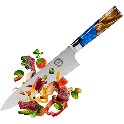 Salimago Japanisches Messer VG 10 scharfes Messer Damascus Stahl 67 Lagen [ Ultra scharfes Fleischmesser ] 30cm Kochmesser Profi Messer Küchenmesser Damast | Damast Küchenmesser Top Qualität