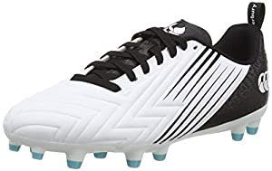 canterbury Men's Speed 3.0 Firm Ground Rugby Shoe, White/Black/Angel Blue, 9 UK by Canterbury