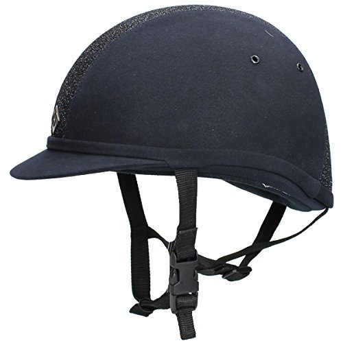 Charles Owen YR8 Sparkly Riding Hat 6 3/4 Navy/Navy Sparkle