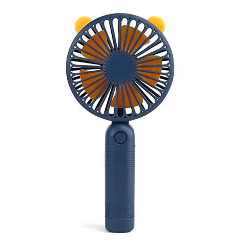 Kcibyvx Cute Cartoon Pattern Mini ventilador portátil USB de carga ventilador de aire refrigerador para estudiantes, dormitorio en casa o oficina