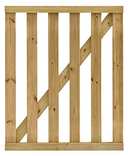 Lanrui Jardín Listones de Madera Puerta Puerta de jardín al Aire Libre Patio Panel Lateral Borde de la Puerta impregnado Pinewood 100x100 cm Tamaño: (39.37inx39.37in) (Size : 100x120 cm)