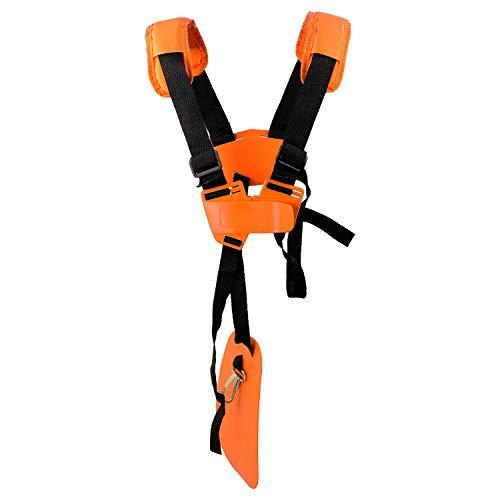 Cintura Decespugliatore Universale - Tracolla Decespugliatore Professionale Trimmer Harness Strap per STIHL, Echo, Husqvarna, Shindaiwa, Honda Decespugliatore Brush Cutter.Eccetera(Arancia)
