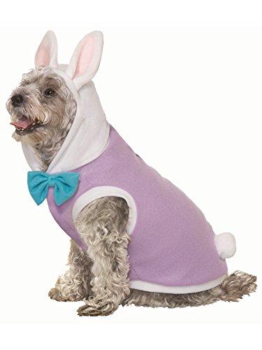 Forum Novelties Easter Bunny Rabbit Pet Dog Cat Cute Dress Up Halloween Costume Purple SM-MD