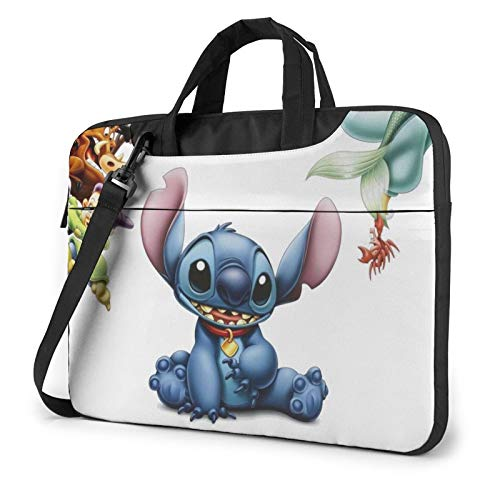 NDSXTLCA Lilo Stitch 17.3-Inch Laptop Shoulder Sleeve Bag Case with Handle for 17 17.3' Acer Dell Hp Classic Colorful 15.6 inch