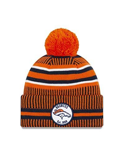 New Era Men's Denver Broncos Orange On Field Home Beanie, One Size