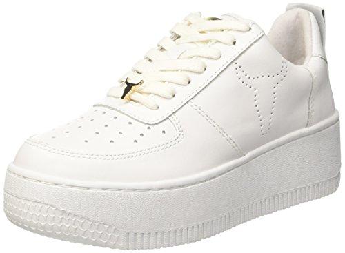 Windsor Smith Racerr, Sneaker a Collo Alto Donna, Bianco (Leather White), 39 EU