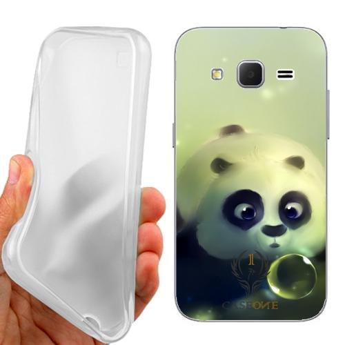 Custodia Cover Case Panda Bubble per Samsung Galaxy Core Prime G360F G360H