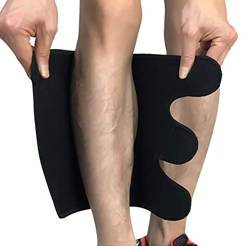 Compression Calf Brace Pads (1 Pair) for Swelling, Edema, Hiking, Training, Calve Sleeves Shin Pads for Men and Women (XX-Large)