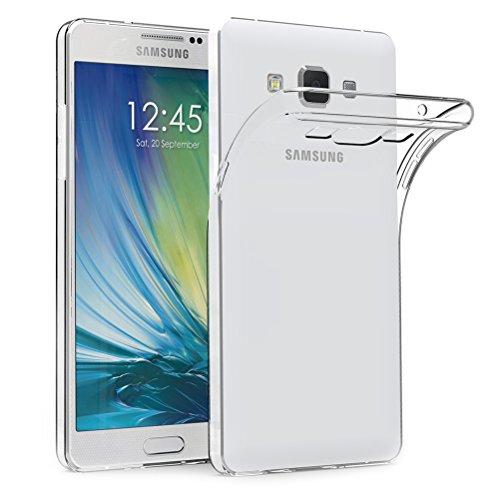 AICEK Funda Samsung Galaxy A5 2015, Samsung Galaxy A5 2015 (A500F/A500FU) Funda Transparente Gel Silicona Galaxy A5 2015 Carcasa para Samsung Galaxy A5 2015 5'