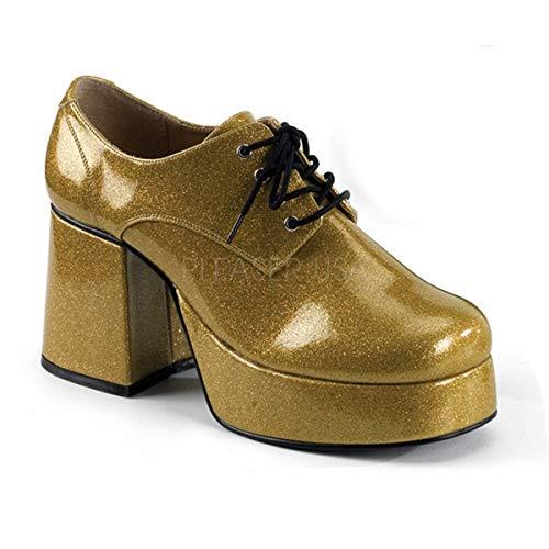 Higher-Heels Funtasma 70s Disco Herren Plateauschuhe Jazz-02G Heavy Gold Gr. 48