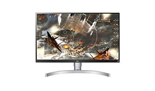 """LG 27UL650-W Moniteur UHD 4K 68,6 cm (27 """") avec Panneau IPS (3840 x 2160 pixels, 16: 9, 350 cd/m², sRVB> 99%, 1000: 1, 5 ms, 60 Hz), Argent et Blanc"""
