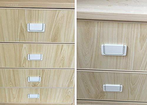 NewbieBoom Griff Für Barschrank Weiß 75 Mm * 35 Mm Art Deco Stil Griffe 128 Mm Für Möbel Küchenschränke Im Allgemeinen Universaltür
