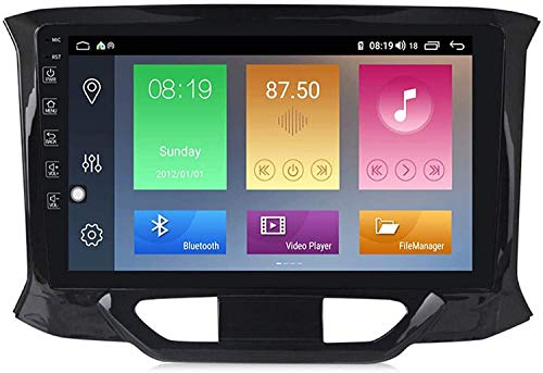 GPS Navigation Head Unit Sat Nav AUD Audio Player DE MP5 FM Radio Receptor Coche Estéreo De 9 Pulgadas Pantalla Táctil Android 10.0 Compatible para Lada Xray 2015-2019,4 Core 4G+WiFi 1+16GB