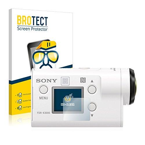 brotect Pellicola Protettiva Compatibile con Sony FDR-X3000 Pellicola Trasparente (2 Pezzi) Anti-Impronte