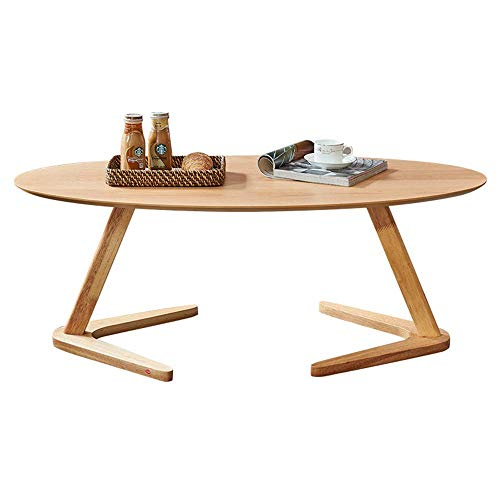 Tavolino da caffè in Legno massello Nordico Tavolino in Stile Antico Divano Laterale/caffè/Snack/Carrello portaoggetti Tavolo Stretto per casa, Soggiorno, Ufficio, Carne