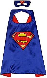 Double sided Kids Superman Top Costume with mask and cape, 4-8 years Kids Boys Parties Festival Costume, Justice League su...