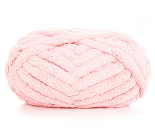 Chunky Chenille Yarn for Blanket, Super Soft Thick Fluffy Jumbo Chunky...