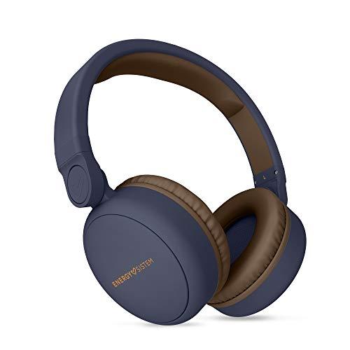 Energy Sistem Headphones 2 - Auriculares con Bluetooth (Over-Ear, Audio-In, Long Battery Life, 180 Plegable) Azul