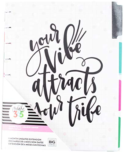 Create 365 MONT-12 Your Vibe 6-Month Undated Medium Planner, Multicolor