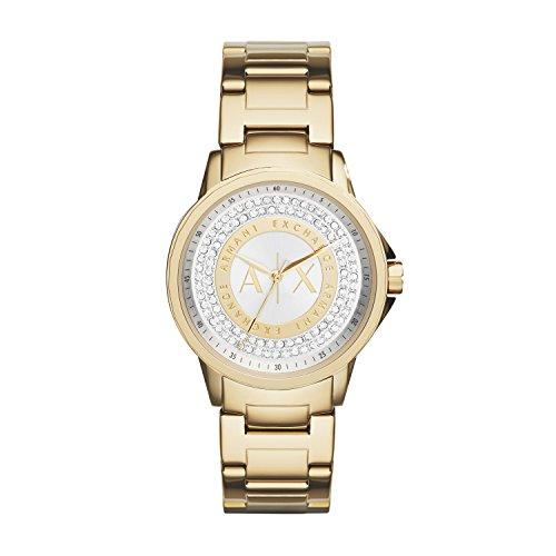 Armani Exchange Damen Analog Quarz Uhr mit Edelstahl Armband AX4321