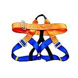 Z-Color Arnés Multiusos, protección contra caídas Cintura de protección contra Cadera Cinturón de Seguridad para montañismo al Aire Libre Escalada para montañismo