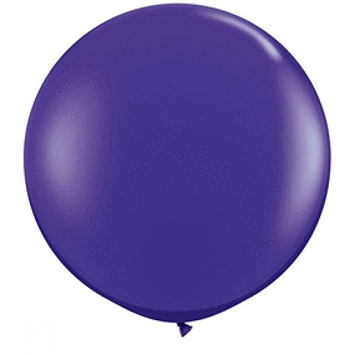 Koyal Wholesale Round Latex Giant Balloon (Pack of 2), 3', Purple