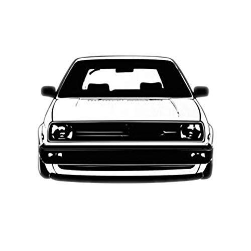 Zhenwo Golf Auto Aufkleber Schlafzimmer Wandaufkleber Kunst Wohnkultur Vinyl Aufkleber Abnehmbare Wohnzimmer Wand Papier 58X80 cm,Schwarz