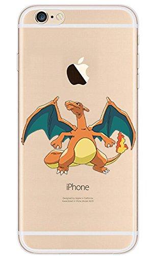 Pokemon GO Pikachu Charizard Blastoise Squirtle - Carcasa transparente para iPhone 5, 5S, 5SE, Charizard