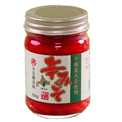 無添加 辛みそ120g×6瓶 渋谷醸造 十勝本別産大豆 キムチ ビビンバ゙ 焼肉に 最適