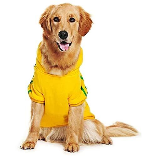 Eastlion Hunde Warm Hoodies Mantel Kleidung Pullover Haustier Welpen T-Shirt Gelb 6XL