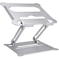 SENYERGIANT Ergonomic Adjustable Laptop Stand Riser with Slide-Proof Silicone and Protective Hooks