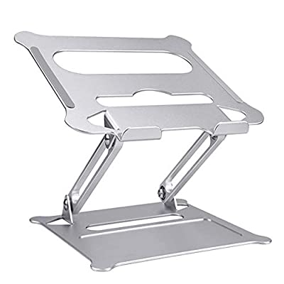 Adjustable Laptop Stand Riser with Slide-Proof Silicone and Protective Hooks