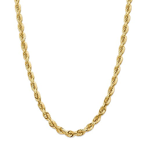 Diamond2Deal - Collana in oro giallo 14 kt, 7 mm, per uomo e donna