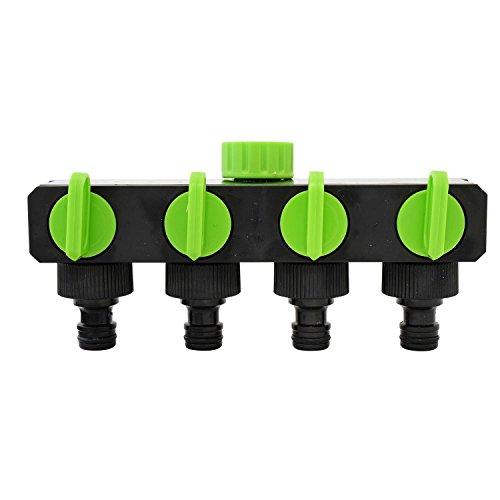 Generic Ter Tuyau ADAP Valve 1-Tap-to-4 1-Tap-to-4 W Arrêt Profil 4 Way Robinet de Jardin Litière Shu Adaptateur de Tuyau d'eau ou répartiteur S connecteur Splitter