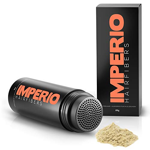 Fibras capilares Imperio – Para disimular la caída de cabello – Microfibras naturales de algodón resistentes – Rubio claro