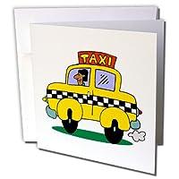 TNMGraphics Occupations–CAB–グリーティングカード Set of 12 Greeting Cards