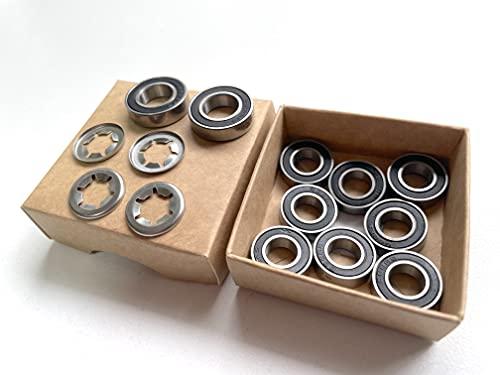 Timbera Kit de reparación de rodamientos de bolas para Husqvarna Automower robot cortacésped ruedas delanteras, ejes delanteros y eje de eje del motor (para modelo: 320 330X 405X 415X 420 430X 430XH)