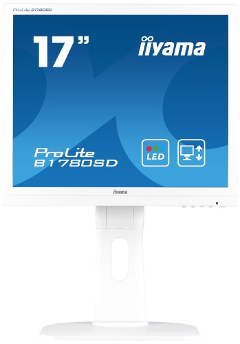 "iiyama ProLite B1780SD-W1 43cm (17\"") LED-Monitor SXGA (VGA, DVI) Höhenverstellung, Pivot, weiß"