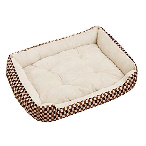 MISSMAO Extra Größe Luxus Hundebett Hundekissen Oxford Gewebe mit unten einen Anti-Rutschboden Beige 2