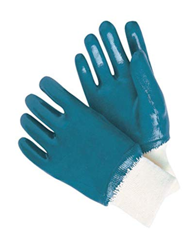 Radnor Large Heavy Weight Nitrile Fully Coated Jersey Lined Work Glove With Knit Wrist