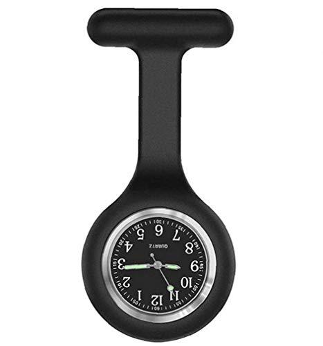 Hiinice Reloj De La Enfermera De La Broche De Silicona Fob Control De Infecciones Diseño Cuidado De La Salud para Enfermera Paramédico Broche Médico Reloj De Bolsillo Negro Herramientas Convenientes