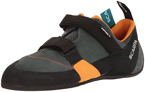 Scarpa Men's Force V Climbing Shoe, Mangrove/Papaya, 7.5-8