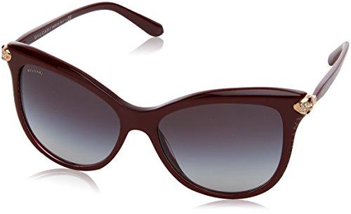 Bulgari 0Bv8188B 54308G 57 Gafas de Sol, Rojo (Bordeaux/Grey), Unisex-Adulto