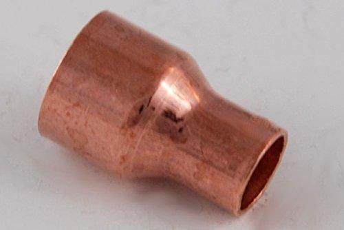 Kupferfitting Reduzier-Muffe 15-10 mm / 5240 i/i Kupfer Fitting Lötfitting CU,5 Stück, copper fitting, zum Löten, Rohrverbinder