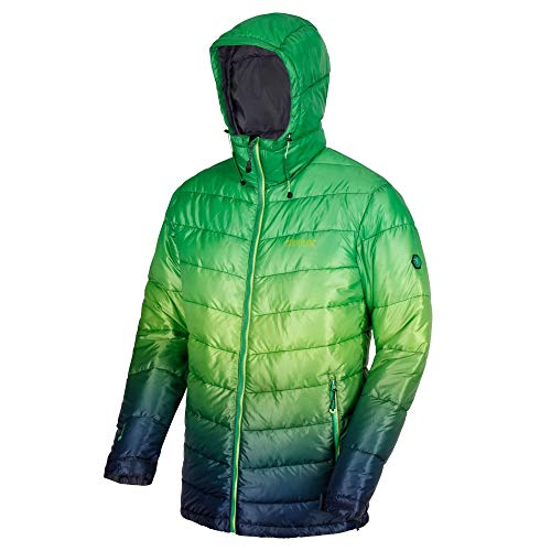 Regatta Azuma II Lightweight Water Repellent Insulated Jacket Homme, Vert Parcours, L