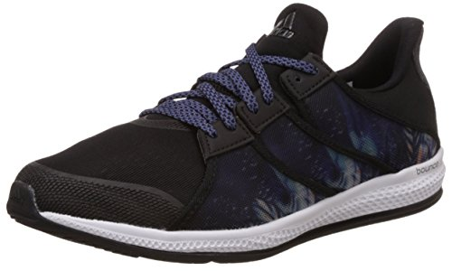 adidas Gymbreaker Bounce W, Zapatillas de Running Mujer, Negro/Morado (Negbas/Nocmét/Morsup), 38
