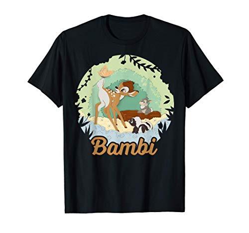 Disney Bambi Group Shot Paper Cut Logo T-Shirt