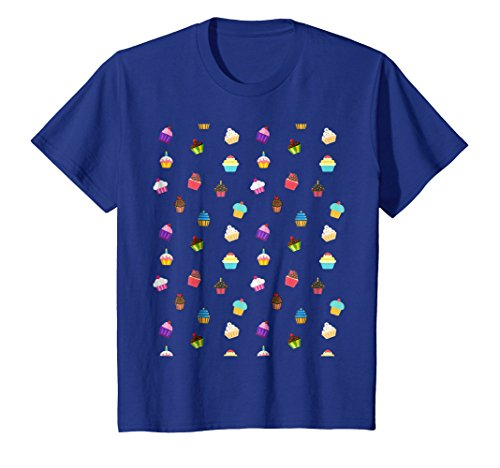 Kids Cute Cupcake Queen T-Shirt - Baking Dessert Frosting Icing 6 Royal Blue