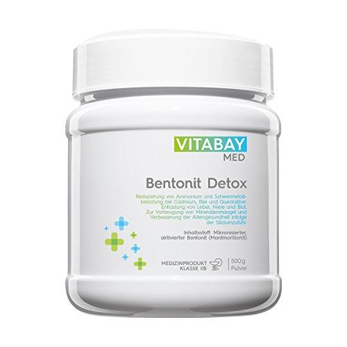 Vitabay Bentonit Detoxpulver 500 g • Ultrafein • Über 90% Montmorillonit • Zur Entgiftung